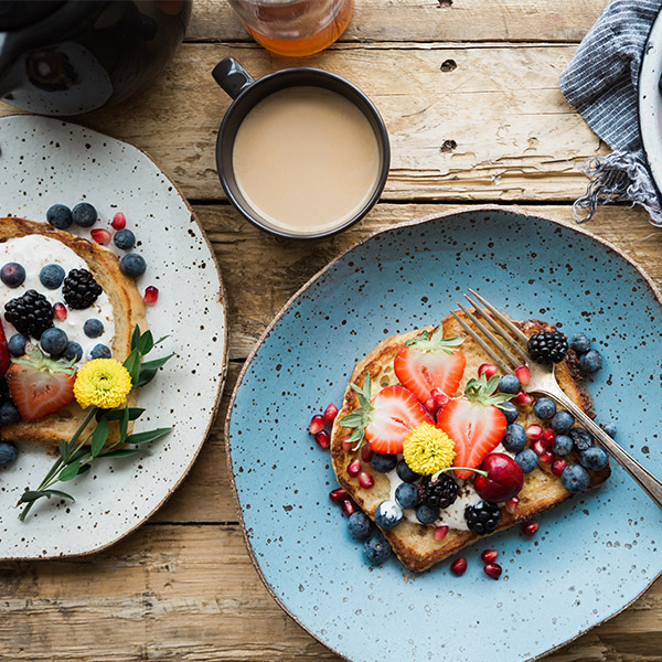 Früchte auf Brot